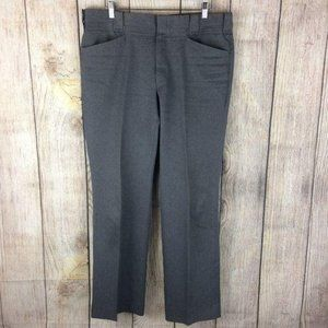 Circle S Dark Grey Flat Front Dress Pants Sz 38